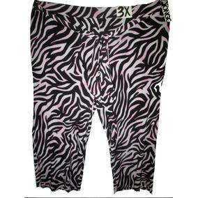 Pantalon Estampado Lila/ Negro Talla 3x (42/44) Bongo