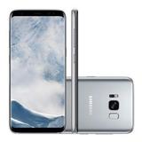 Samsung Galaxy S8 Sm-g950fd 64gb Prata Original Vitrine