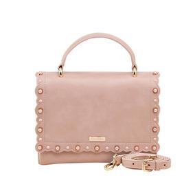 Bolsa Pequena De Mão Rosa Tachas Coloridas Mondaine