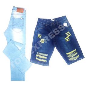 Calças Jeans Cikatriz 40 42 - Bermudas Masculinas no Mercado Livre ... 9320423de39