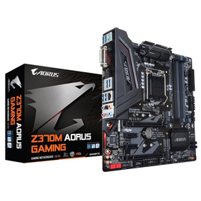 Placa Mãe Gigabyte Z370m Aorus Gaming 8ger Usb3.1 Ddr4 M.2