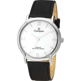 Relógio Feminino Analógico Couro Preto/prata Champion Xxv