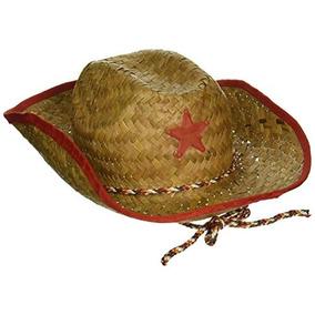 Childs Paja Sombrero De Vaquero Con Plástico Star (6 pack) fe3959b0402
