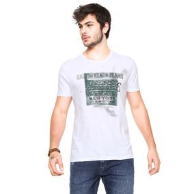 e991232ab1 Camisa Calvin Klein Jeans Branca Tamanho G (frete Grátis)