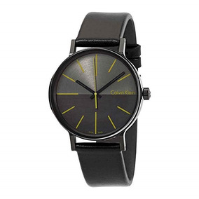Reloj Calvin Klein Hombre Piel Negro Envio Gratis