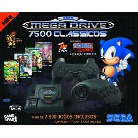 Mini Mega Drive Retro 7500 Jogos E 2 Controles - A Vista