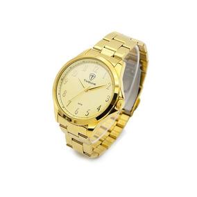 5dcea7fd7e8 Relógio Masculino Tuguir Analógico 5026 Dourado por Weide