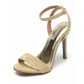 Sandália Via Uno Glitter Dourada