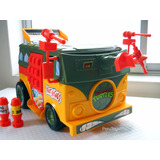 Tmnt Tortugas Ninja - Party Wagon 1989 Vintage - Perutoys80s