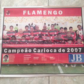 Jornal Jb Flamengo Campeão Carioca De 2007 Pôster