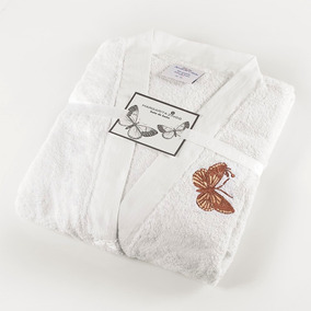 Bata De Baño Mariposas Margarita Zingg Talla S