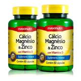 Kit 02 Cálcio Magnésio & Zinco Maxinutri - 60 Cápsulas