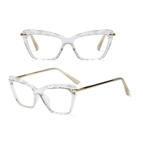 491b7ae1bfede Óculos P grau Femenino Armaçao Retro Diamante Chic Oluxo · 5 cores. R  75