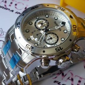 Relogio Invicta 0071 Pro Diver Prata Aço Inoxidável Original