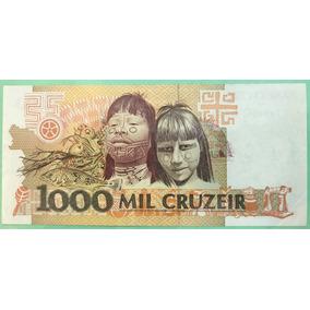 Cédula 1000 Cruzeiros C 218 Com Erro Na Impressão!