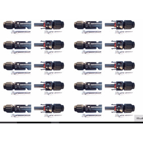 20 Par De Conector Mc4 30a Energia Solar+ 01 Par De Chave
