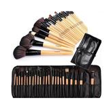 Brochas Set 24 Maquillaje Profesional Pelo Camello + Estuche