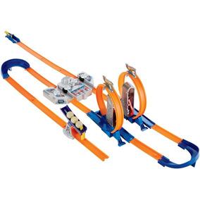 Pista Hot Wheels Track Builder Total Turbo Track Set