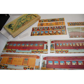 Sectional Railroad Puzzle - Usa - 1882