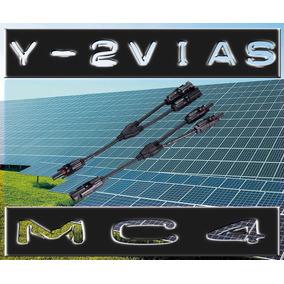 Par Adaptador Mc4 Y Duplo 2 Vias Conector Painel Solar