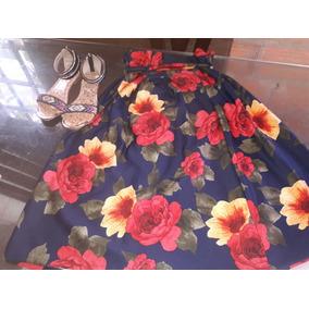 Hermosa Falda Midi Floreada Talla Unic Y Nueva+sandalias Con 16cd26cf8a7d