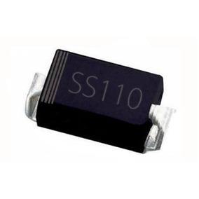 5x Diodo Ss110 1a 100v Sr1100 Ss 110 Schottky Retificador