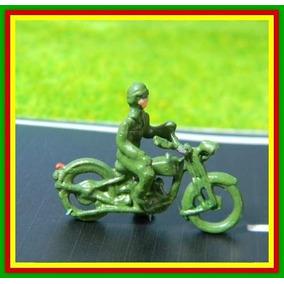 Figuras Motocicleta Militar + Soldado Ho 1:87 Metal