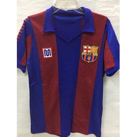 Playera Retro D Algodon Barcelona De España Epoca Maradona d17a164f9d1