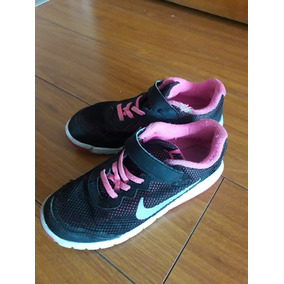 buy popular 163c3 d449f Zapatillas Nike Flex Niña Talle 33 Arg 1,5y C Abrojo Usadas