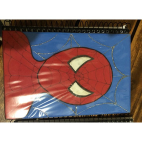Capa De Caderno Em Eva Hulk, Homem De Ferro E H. Aranha C/4