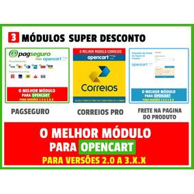 Modulos Para Opencart Pagseguro + Correios + Frete Na Tela