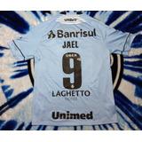 Camisa Umbro Grêmio 2018 Brasileirão Jael  9 De Jogo 8dbac0526536d