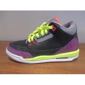 cheaper 09401 b0784 Nike Air Jordan 3 Retro Talla 4.5 Mx P dama Orig 100% C48