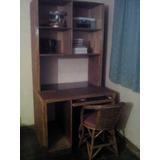Mueble Biblioteca Escritorio De Rattan