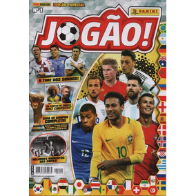 5 Revistas Jogão + Lata Pocket Panini World Cup Russia 2018