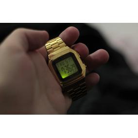 1f487a99a5a Relógio Retrô Digital Casio Original Dourado Usado A178w