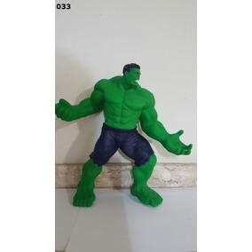 Boneco O Incrivel Hulk Emborrachado Articulado 35cm Grande