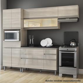 Cozinha Compacta Itatiaia Belíssima 3 Peças Saara/wood