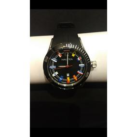 80d32af0e78 Relógio Nautica - Original - Pulseira De Borracha Preta