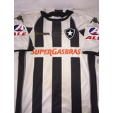 Camisa Do Botafogo Kappa Supergasbras Ale 10 Preta E Branca a3eb9acb95450