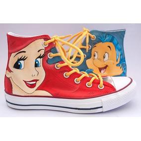 Zapatos Ariel La Sirenita Marca Collec Diseño Hecho A Mano