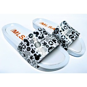 Chinelo Melissa Beath Slide Mickey Minnie Lancamento