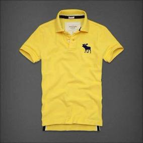 Abercrombie Hombre Playera Amarilla Polo Talla Xl