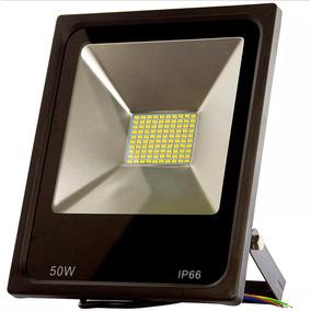 Refletor Holofote Led Branco Frio 50w Bivolt A Prova D