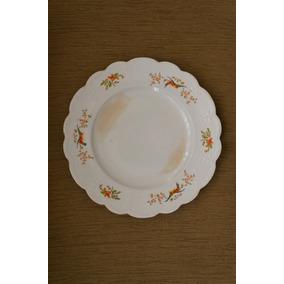 Prato Bolo Secular Sarreguemines-francesa-1875-1900-porcelan