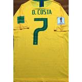 Camisa Do Brasil Copa 2018 De Jogo Autografada Todos + Tite 39d6ef01ce9c9