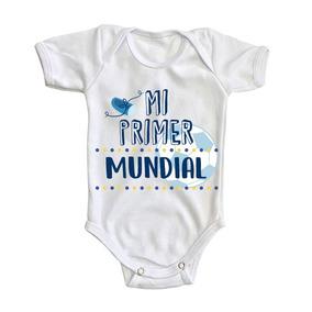 Pañalero Blanco Mi Primer Mundial Ropa Bebe Niño Corta a1eade1a548ba