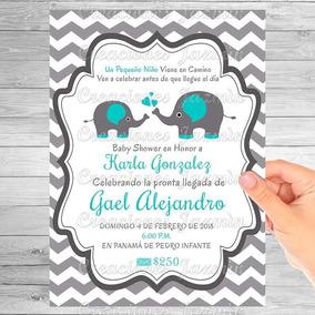 Invitaciones Baby Shower Imprimible Recuerdos Cotillon Y Fiestas