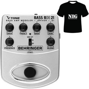 Pedaleira V-tone Bass Behringer Bdi21 [ Camiseta Brinde ]