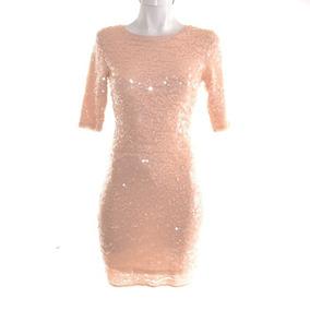 Bcbg Vestido Palo De Rosa Con Lentejuelas Corto Xs Mrsp$3500